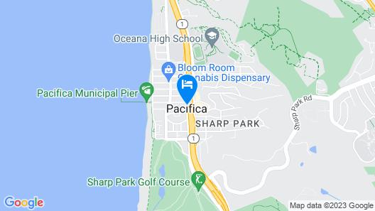 Americas Best Value Inn San Francisco Pacifica Map