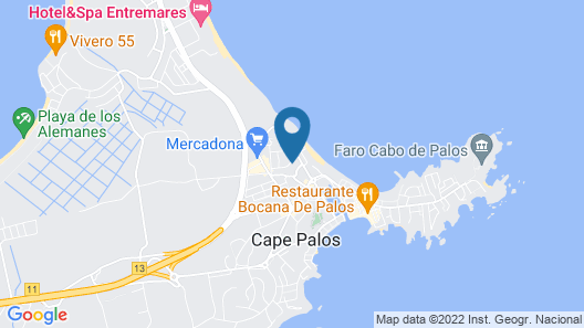 Semi-detached House Second Line in Cabo de Palos Map