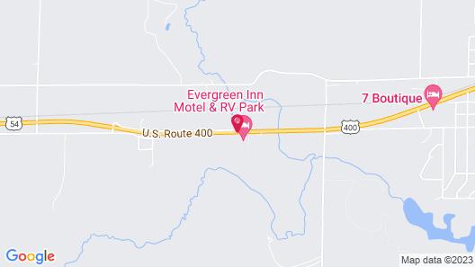The Evergreen Inn - Motel and RV Park Map