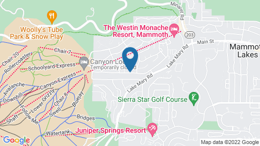 Mountainback at Mammoth Map