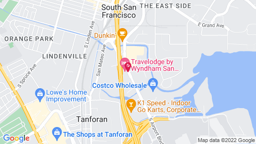 Travelodge by Wyndham San Francisco Airport North Map