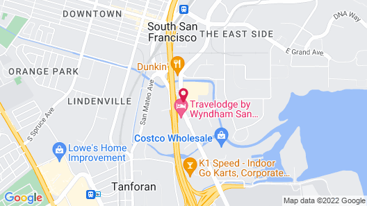 DoubleTree by Hilton San Francisco South Airport Blvd Map