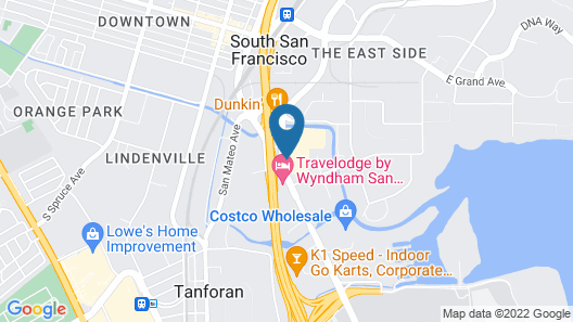 DoubleTree by Hilton San Francisco Airport South Blvd Map