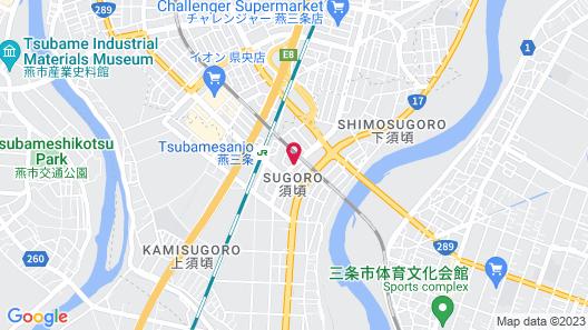 Hotel Route-Inn Tsubamesanjo Ekimae Map