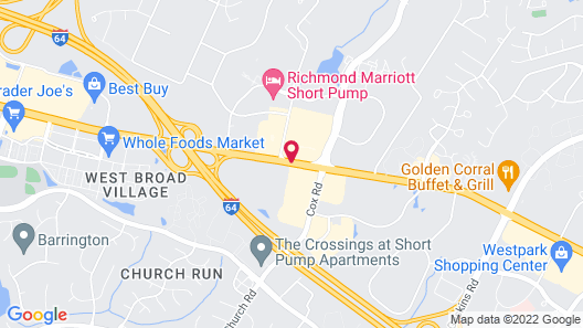 Extended Stay America - Richmond - West End - I-64 Map