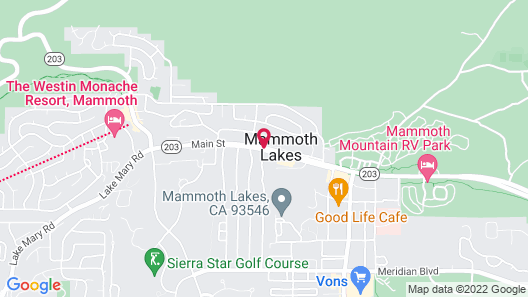 Motel 6 Mammoth Lakes, CA Map