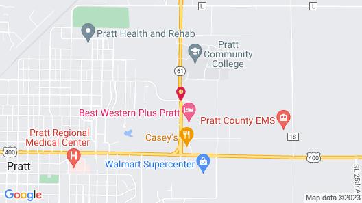 Best Western Plus Pratt Map