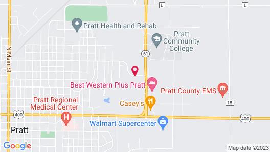 Hampton Inn Pratt Map