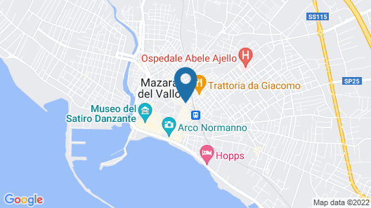 House With 2 Bedrooms in Mazara del Vallo, With Wifi - 50 m From the Beach Map