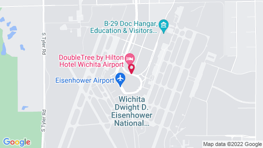 DoubleTree by Hilton Hotel Wichita Airport Map