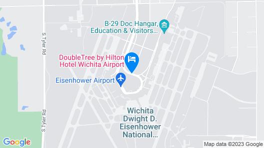 DoubleTree by Hilton Hotel Wichita Airport Map