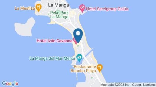 Hotel Izán Cavanna Map