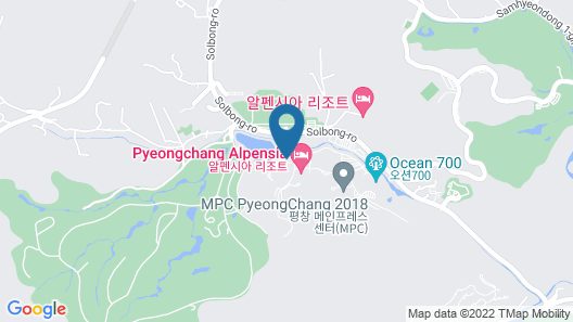 InterContinental Pyeongchang Resort Alpensia, an IHG Hotel Map