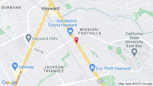Quality Inn Hayward Map