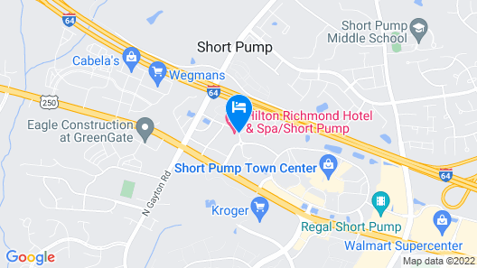Hilton Richmond Hotel & Spa/Short Pump Map