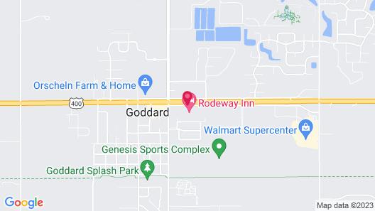 Rodeway Inn Goddard Map