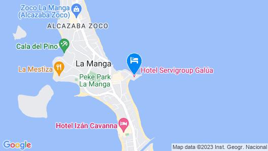 Hotel Servigroup Galúa Map
