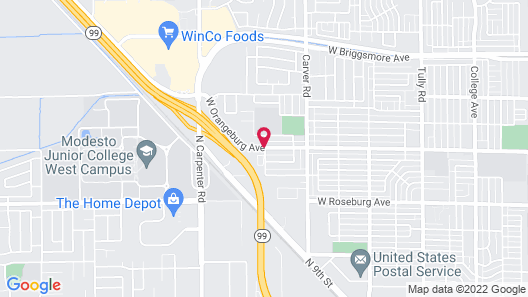 SpringHill Suites by Marriott Modesto Map