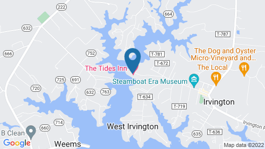The Tides Inn Map