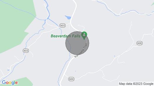 Tentrr Signature Site - Beaverdam Falls, Top of the Rock Map