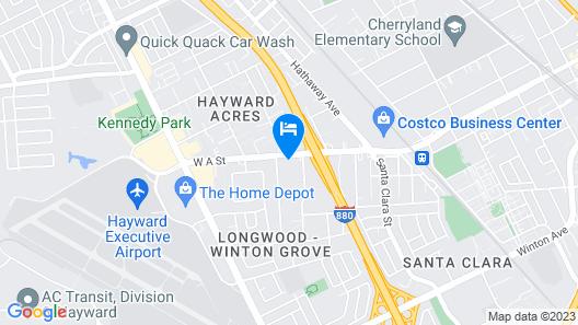 Vagabond Inn Executive Hayward Map
