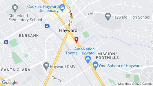 Hampton Inn Oakland-Hayward Map