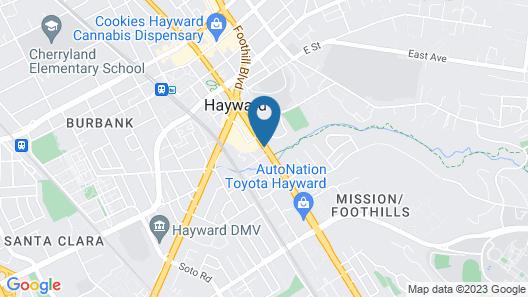 Hampton Inn Oakland-Hayward Map