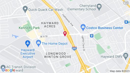 Heritage Inn Express Hayward Map
