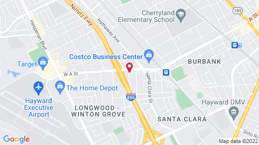 Best Western Plus Inn of Hayward Map