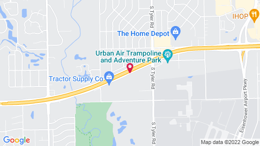 Airport Lodge Wichita Kansas Map
