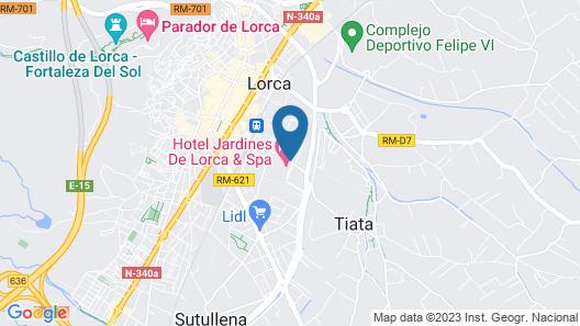 Hotel Spa Jardines de Lorca Map