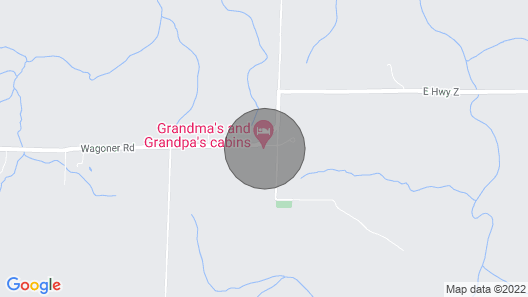 Grandma's Cabin at Stockton Lake, Stockton Missouri Map