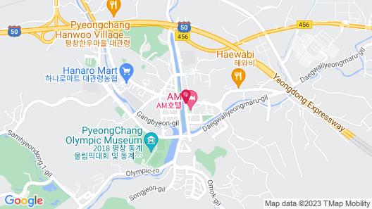Pyeongchang Hotel The Maru Map