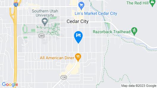 Knights Inn Cedar City Map