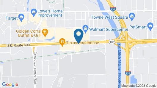 Super 8 by Wyndham Wichita Airport Map