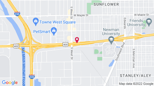 Best Western Plus Wichita West Airport Inn Map