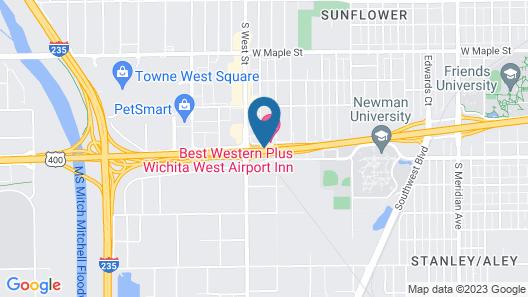 Best Western Plus Wichita West Airport Inn Map