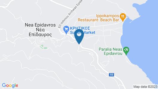 Exquisite Sea-view, Epidavros Village, 5 min of the Nearest Beach Map