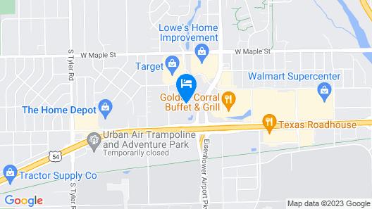 WoodSpring Suites Wichita Airport Map
