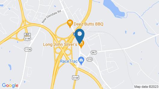 Americas Best Value Inn Elizabethtown Map