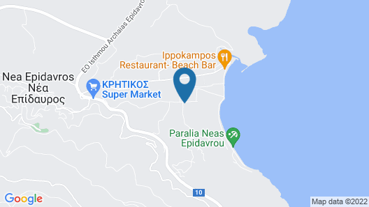 Classic Greek Villa Surrounded By Amazing Landscape And Profound History Map