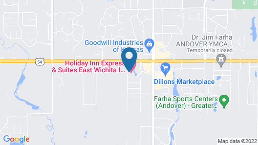 Holiday Inn Express Hotel & Suites East Wichita I-35 Andover, an IHG Hotel Map