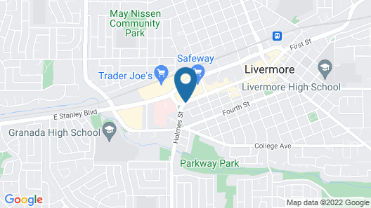Americas Best Value Inn Livermore Map