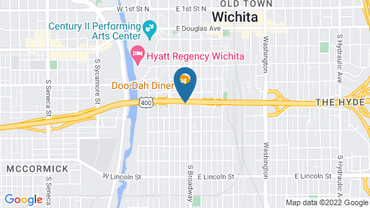 Wyndham Garden Wichita Downtown Map