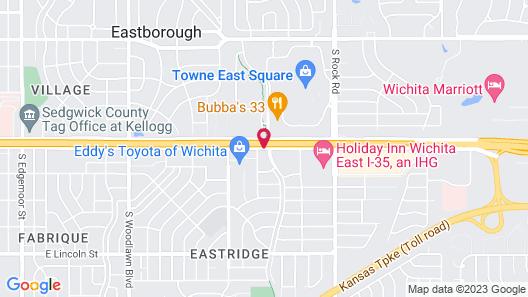 Red Roof Inn PLUS+ Wichita East Map