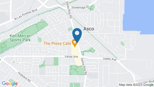 Tri Valley Inn & Suites, Pleasanton Map