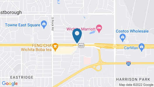 Motel 6 Wichita, KS Map