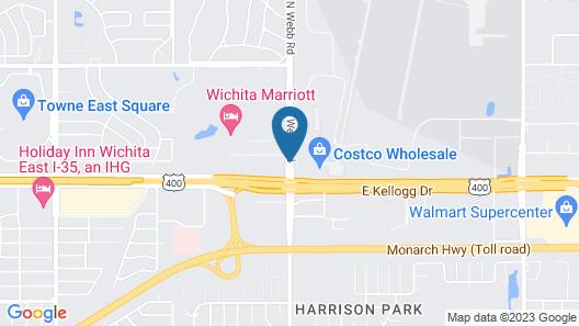 Hawthorn Suites by Wyndham Wichita East Map