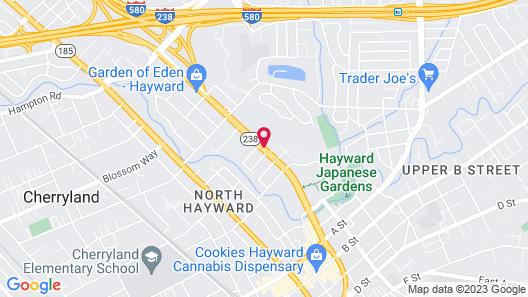 Super 8 by Wyndham Hayward Downtown Map