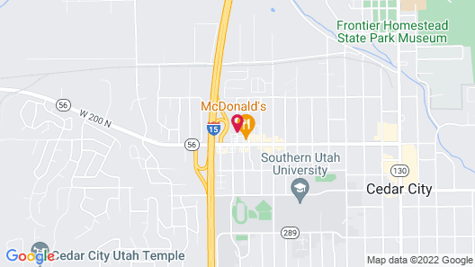 Quality Inn Cedar City - University Area Map